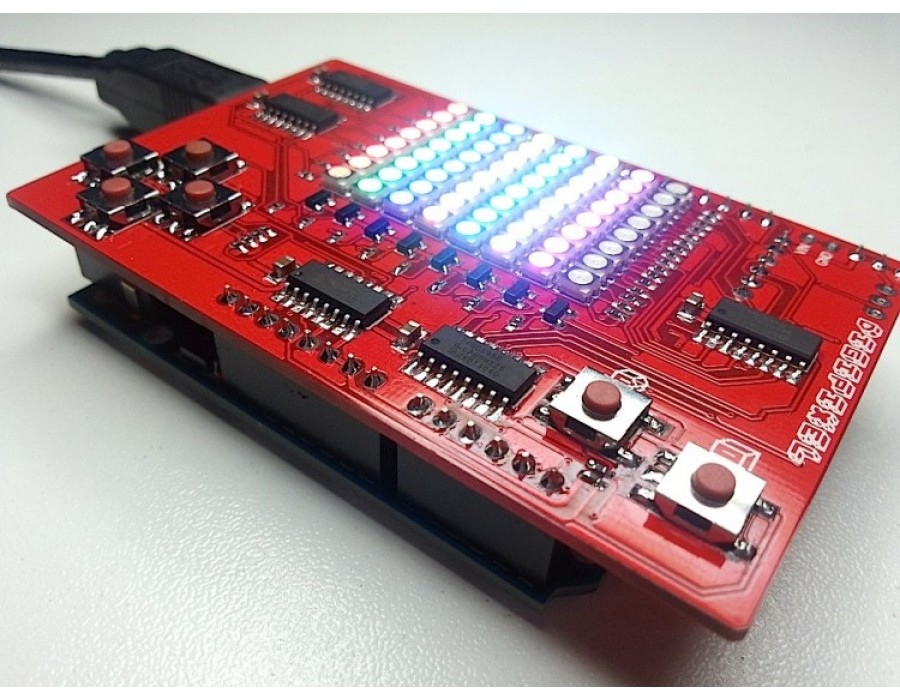 Digipixel an led game shield for your arduino or digispark