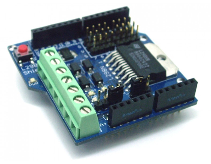 L298n motor driver shield for arduino buy in india fab for Motor driver for arduino