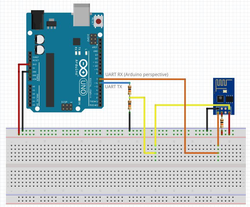 WiFi Serial Transceiver Module Breakout Board - ESP8266 ESP-05